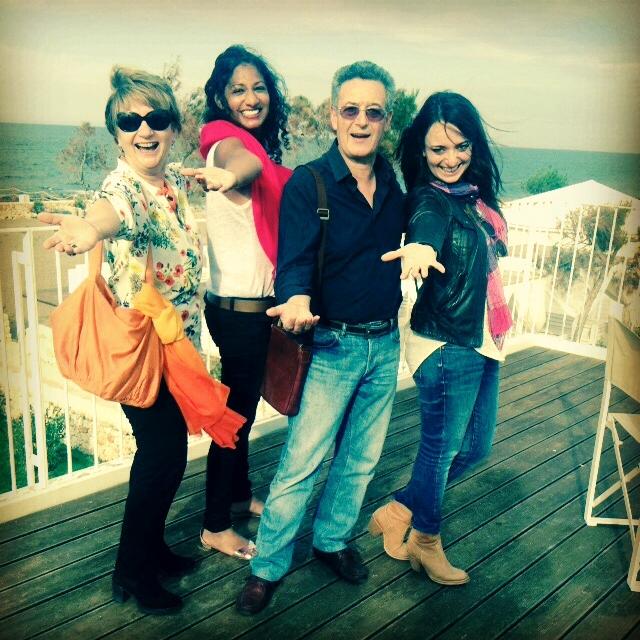 With my Puglian famiglia: Tonia, Lucio and Simona