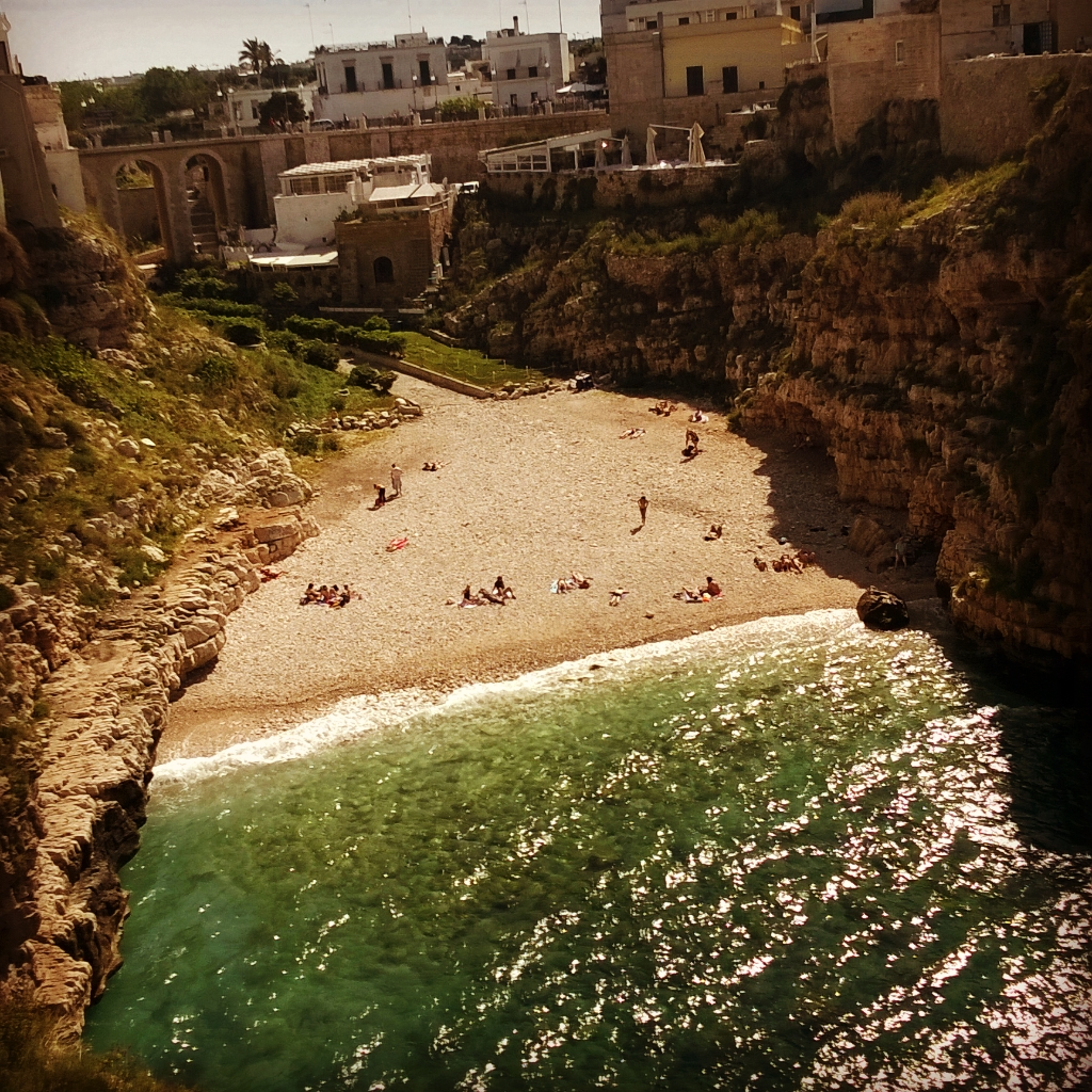 The iconic cove at Polignano a Mare.