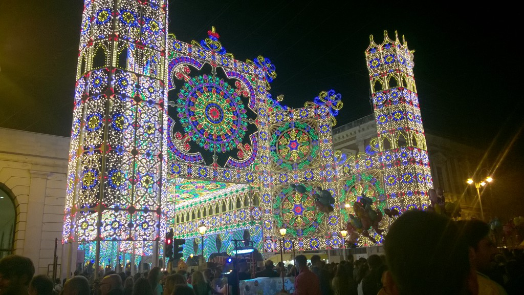 The last night of Festa di San Nicola in Bari