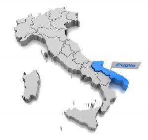 Map of Puglia region