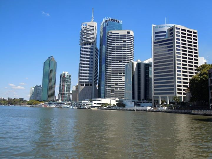 Brisbane city from the aptly named Brisbane River