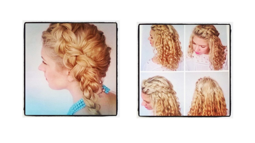 Left: The Deep Side Braid Right: Steps for the Fringe Braid